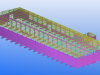 Precasting Yard - Isometric View 1
