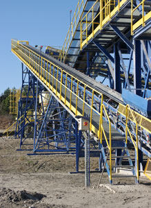 steelwork for mining applications